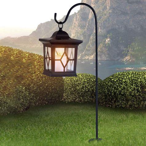 Lampioni Da Giardino Obi.Lampada Solare A Lanterna Eboni Nera Lampade Lampade Da Parete