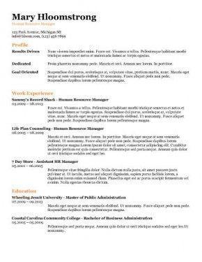 Ats Resume Templates Resume Template Free Best Resume