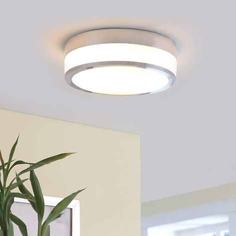 LED Deckenleuchte Patrik IP44 Chrom Bad 5-flammig Lampenwelt Deckenlampe Hell