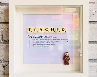 Button People Frame For Teacher Personalised End Of Term Etsy Teacher Personalized Teacher End Of Term