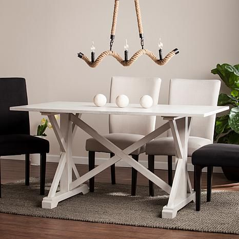 Outstanding Holliwell Distressed Farmhouse Dining Table 8521791 Gmtry Best Dining Table And Chair Ideas Images Gmtryco