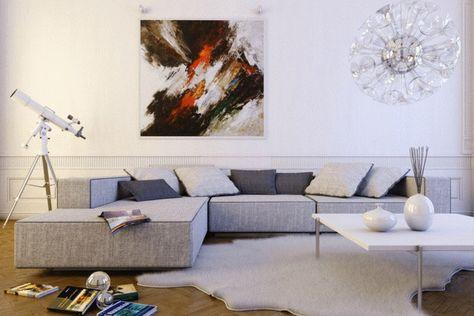 Kleines Wohnzimmer Grosses Sofa So Inszenieren Sie Die Couch