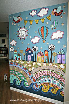 Easy Playroom Mural Design Ideas For Kids 45 Playroom Mural