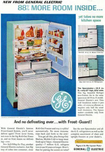 general electric ge freezer frost guard magazine ad ebay vintage pinterest