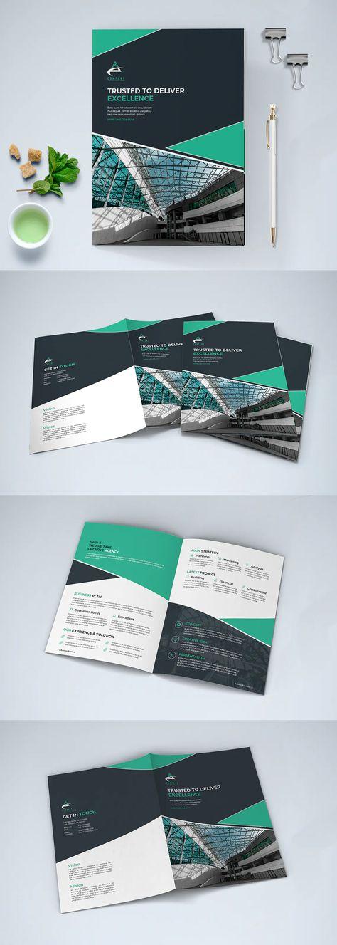 Modern Business Brochure Bi-Fold Template InDesign INDD