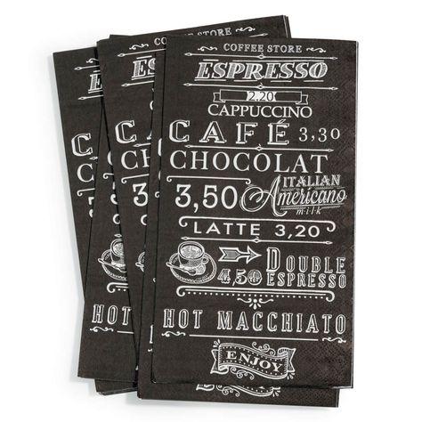 Paquet de 20 serviettes Expresso, 3.29€ chez Maisons du Monde