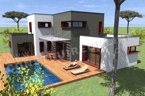 Plan D Une Maison Moderne Avec Piscine Maison