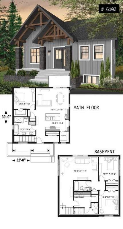 43 Super Ideas Kitchen Small Open Plan Bedrooms House Plan With Loft Bungalow House Plans Craftsman House Plans