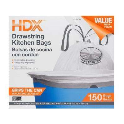 Hdx The Home Depot Trash Bag Kitchen Garbage Bags Kitchen Trash Cans