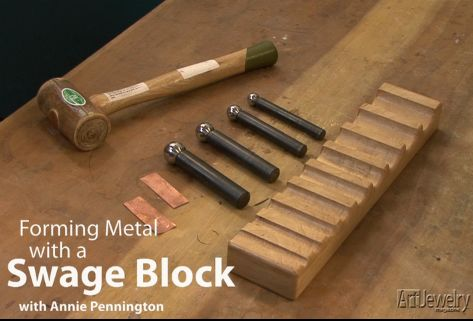 Watch this video to learn how to form metal using dapping punches and a swage block.