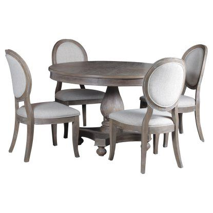 Powell Lenoir 5 Piece Dining Table Set Dining Furniture Makeover
