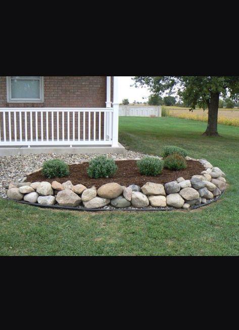River Rock Vs Mulch Landscaping | My Garden | Pinterest | Mulch  Landscaping, Landscaping And Rivers