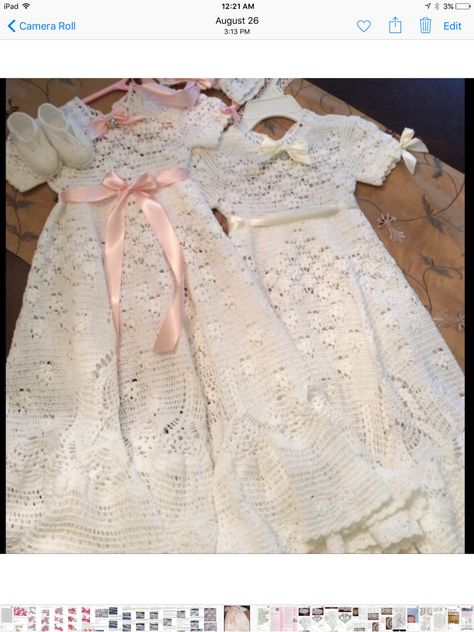 Christening Outfit Pattern Crochet Crochet Pinterest