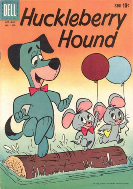 huckleberry hound     four color 1050 comic cover art