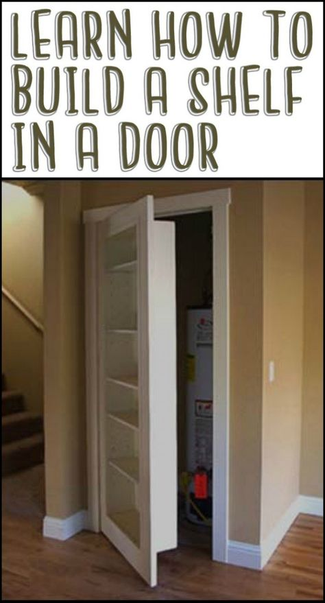 How to turn a door into a set of shelves