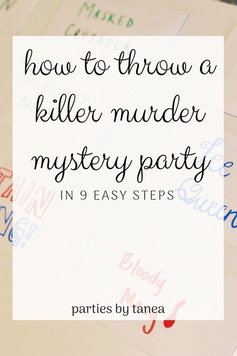 Thinking about throwing a murder mystery party but don't know how? I'm going to teach you how to host a murder mystery party that is, well, killer! Mystery Dinner Party, Dinner Party Games, Spy Party, Dinner Themes, Fiesta Party, Host A Party, Murder Mystery Games, Murder Mystery Script, Mystery Novels