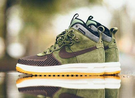 5ab68f0a Nike Lunar Force 1 Duckboot Brown Olive Gum