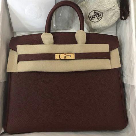 Hermès Birkin 25 Rouge H Togo Gold Hardware GHW C Stamp 2018  birkin25   thefrenchhunter 190a891f901c7