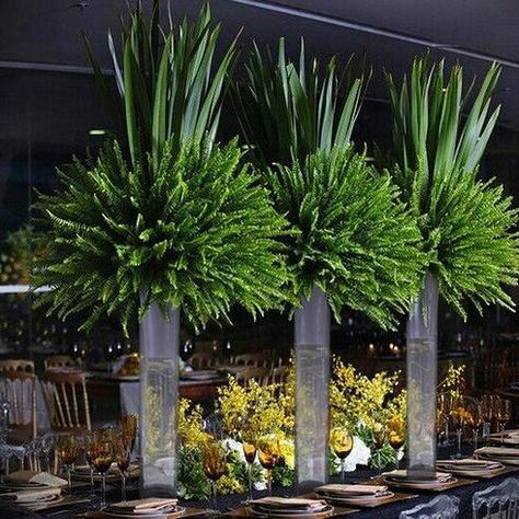69 Ideas Wedding Centerpieces Greenery Tall For 2019 Succulent Centerpieces, Floral Centerpieces, Table Centerpieces, Tall Wedding Centerpieces, Wedding Vases, Centrepieces, Church Flower Arrangements, Church Flowers, Floral Arrangements