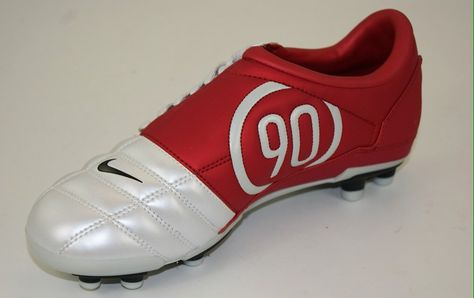 Almacén Nube entusiasta  Brings back some really fond memories Nike Total 90 AIr Zoom 3 FG.  red/white   Chuteiras nike, Chuteiras de futebol, Chuteiras