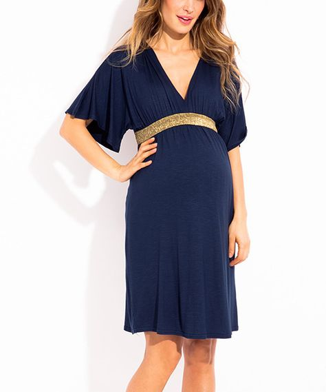 82f71caf1ccb Love this Navy Blue Felicine Maternity Empire-Waist Dress by Envie de  Fraises on  zulily!  zulilyfinds