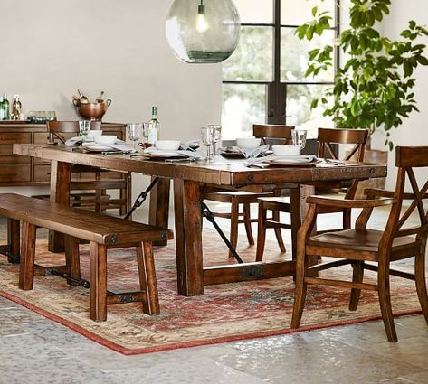 Aaron Armchair Rustic Mahogany Stain Wood Dining Chairs