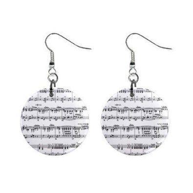 Amazon.com: New Musical Sheet Music Dangle Button Earrings Jewelry 13690090: Jewelry