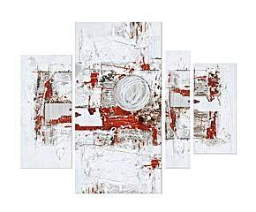 Oleo Sobre 4 Lienzos Con Marco De Madera Block 150x120x3
