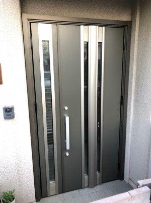 玄関ドアリフォームを兵庫で行うきたむらのビフォーアフター 2020