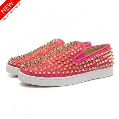 d52f5b377b0 Christian Louboutin Roller-Boat Womens Flat Pink | Sneakers ...