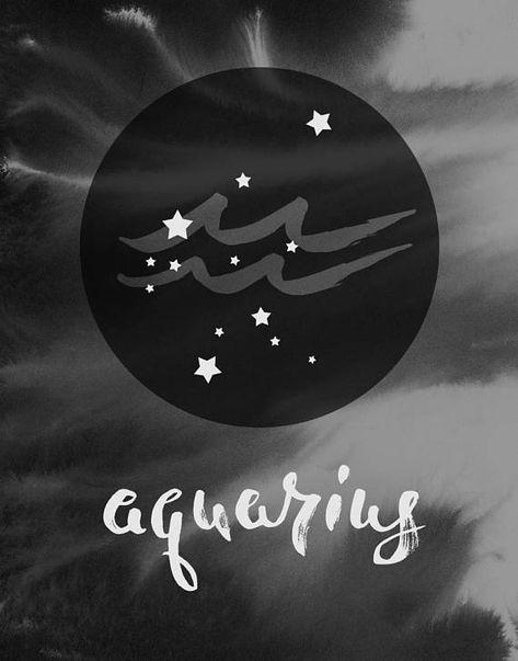 Wassermann Sternzeichen Astrologie Geschenk Geburtstag Sterne