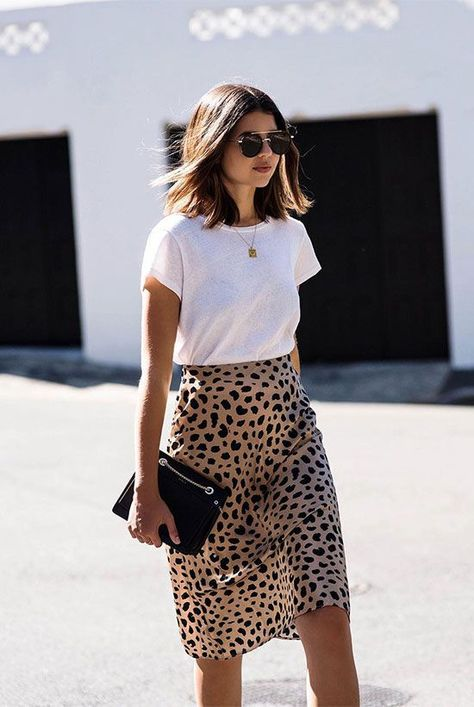 10+ Cool Ways To Style A Leopard Satin Skirt | Be Daze Live