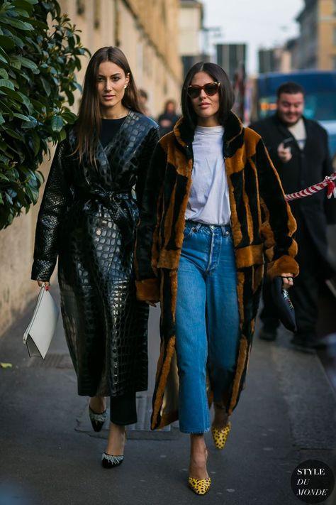 Fall Inspo Milan Fashion Week Fall 2017 Street Style: Giorgia Tordini Buying Baby Clothes At A Disco Street Style Chic, Street Style 2017, Model Street Style, Street Style Trends, Spring Street Style, Fall Fashion Week, Look Fashion, Autumn Winter Fashion, Street Fashion