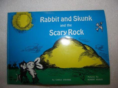 Rabbit and Skunk The Scary Rock Carla Stevens PB Scholastic Robert