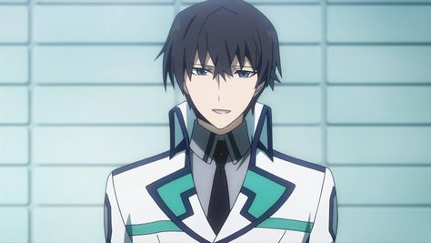 "The dashing Course 2 student, Tatsuya Shiba, from the anime, ""Irregular at Magic High School""."