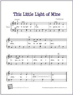 This Little Light Of Mine Easy Piano Sheet Music Piano Sheet