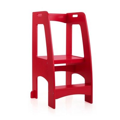 Marvelous Step Up Kitchen Helper Red Guidecraft Things I Think I Theyellowbook Wood Chair Design Ideas Theyellowbookinfo