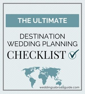 PLANNING -  Destination Wedding Planning Checklist with a FREE printable guide for organising a wedding abroad | http://www.weddingsabroadguide.com/wedding-planning-checklist.html The Wedding Planning Checklist has been designed specifically for getting married abroad. Use it to help successfully plan your wedding abroad.