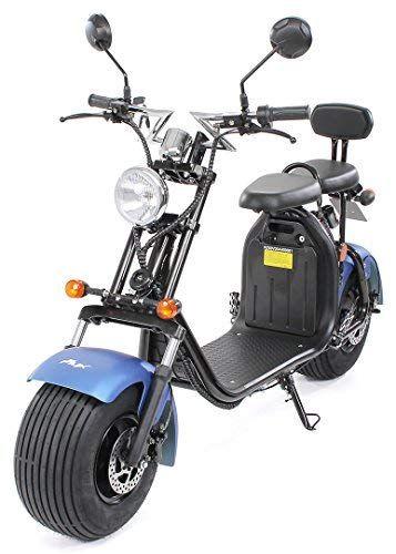 Eflux Harley Two Elektroroller Scooter Chopper 1500 Watt Motor Strassenzulassung 2 Sitzer Bis Zu 45 Km H E Scoote Elektro Scooter Elektroroller Roller