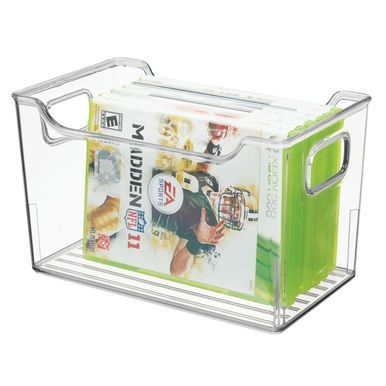 Plastic Home Storage Bin For Video Game Storage 10 X 6 X 6 Game Storage Video Game Storage Storage Bins
