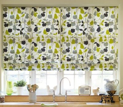 lime green and dark grey roman blind Ideas for the Home