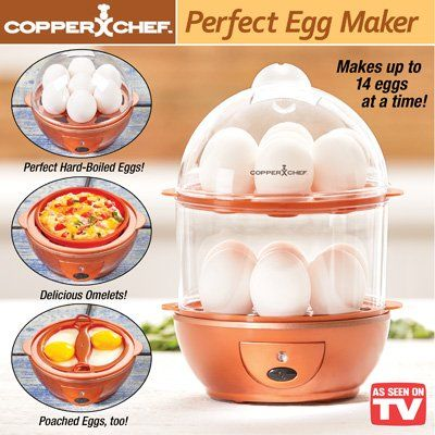Copper Chef The Perfect Egg Maker Copper Chef Perfect Eggs Egg Cookers