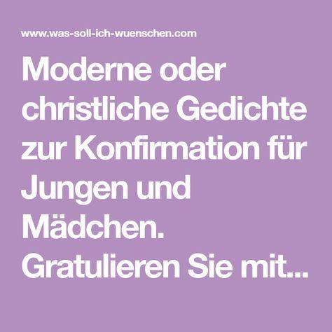 Moderne Oder Christliche Gedichte Zur Konfirmation Für