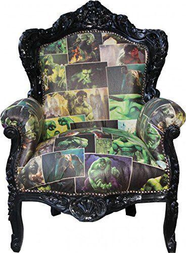 Wow Das Ist Ein Sessel Fur Echte Hulk Fans Handgefertigter Barock Sessel Casa Padrino Barock Sess Barock Sessel Coole Wanddekoration Geschenke Fur Teenager