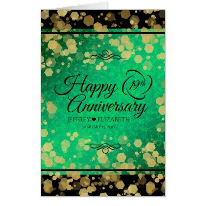 Jumbo 19th Jade Wedding Anniversary Card Elegant Gifts Stylish Giftideas Custom Anniversary Cards 19th Wedding Anniversary Jade Wedding