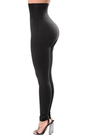 37024514e00e9b Super High Waisted Knee Slit Faux Leather Leggings in Black (Plus ...