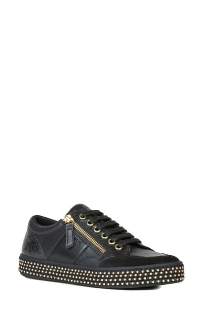 GEOX LEELU STUDDED SNEAKER. #geox #shoes | Geox in 2019