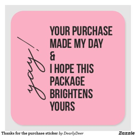 Shop Seller Packaging 35 Thank You For Supporting Our Small Business Stickers