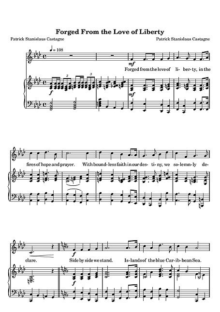 Forged From The Love Of Liberty Voice Piano Sheet Music