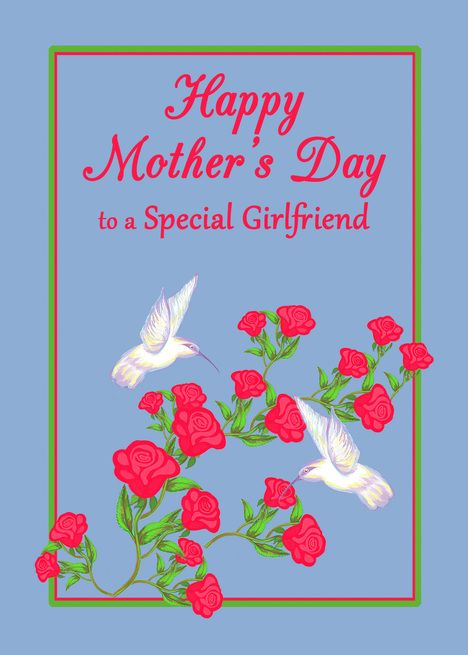 Girlfriend Mother Rsquo S Day White Hummingbirds And Pink Roses Card Ad Affiliate Rsquo Happy Mothers Day Poem Mother Day Message Free Mothers Day Cards
